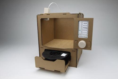 noah posner cardboard 3d printer