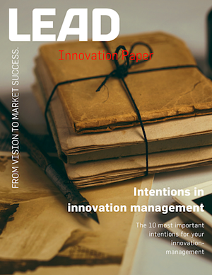 Intentions in innovation management