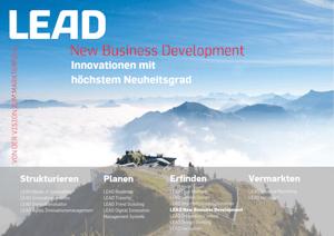 Produktfolder LEAD New Business Development 2019